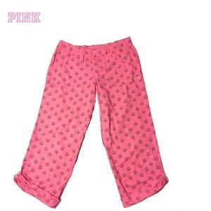 VS Pink Adjustable Length Slouch Pants
